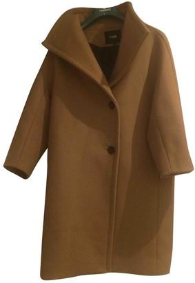 Maje Fall Winter 2019 Camel Wool Coats
