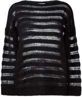 Saint Laurent open stitch knitted jumper - women - Polyamide/Mohair/Wool - M