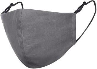Dark Grey Linen Cotton Face Mask With Filter Pocket
