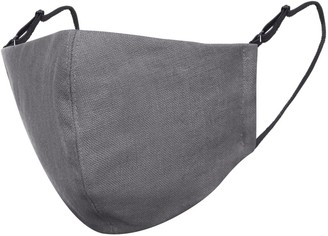 Face My Mask Dark Grey Linen Cotton Face Mask With Filter Pocket