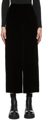 Enfold Black Velvet Wide-Leg Lounge Pants