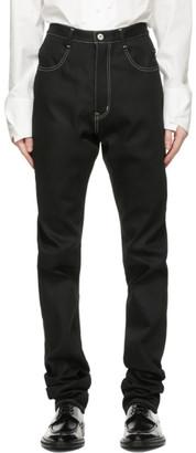 Sulvam Black Straight Jeans