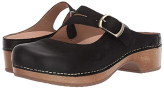 Dansko Britney (Black Burnished Nubuck) Women's Shoes