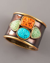 Carved-Stones Cuff