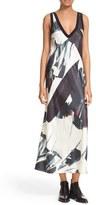 DKNY Women's V-Neck Print Maxi Dress