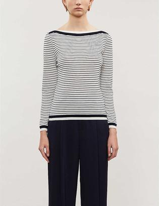 Max Mara Ugolina asymmetric ribbed-knit T-shirt