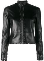 Valentino Rockstud jacket - women - Cotton/Linen/Flax/Lamb Skin/Cupro - 40