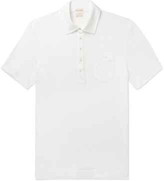 Massimo Alba Slub Linen Polo Shirt