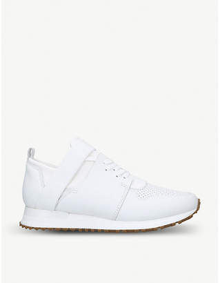 MALLET Elast leather and mesh low-top trainers