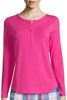 Liz Claiborne Long-Sleeve Henley Pajama Top