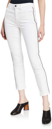 7 For All Mankind Jen7 by High-Rise Ankle Skinny Jeans with Piping