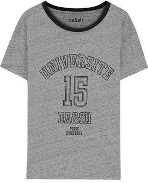 BA&SH Thale Printed Melange Cotton-jersey T-shirt