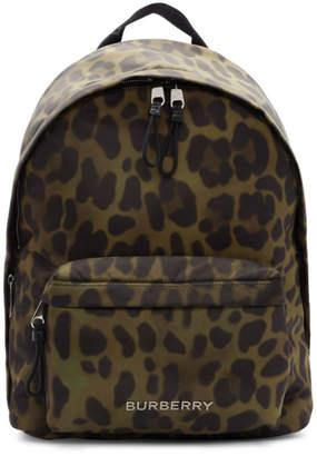 Burberry Green Leopard Jett Backpack