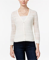 Maison Jules Open-Knit Cardigan, Only at Macy's