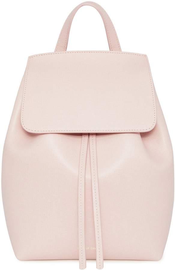 Mansur Gavriel Saffiano Mini Backpack - Rosa