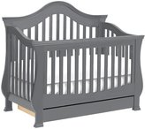 Million Dollar Baby Classic Ashbury 4-in-1 Convertible Crib w/Toddler Bed Conversion- Manor Grey