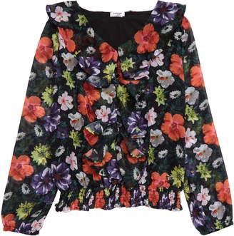 Bebe Floral Print Chiffon Top