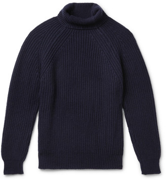 Anderson & Sheppard Ribbed Merino Wool Rollneck Sweater