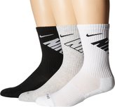 Nike New 3 Pack Women's Dri-Fit Fly Crew Socks Multi Color Large
