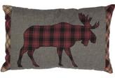 Dorval Applique Moose Cotton Checkered Lumbar Pillow Loon Peak