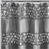 POPULAR BATH Popular Bath Sinatra Silver Shower Curtain