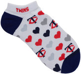 For Bare Feet Women's Minnesota Twins Heart Logo Repeat Socks