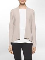 Calvin Klein Modified Shawl Collar Open-Front Cardigan