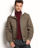 London Fog Big and Tall Jacket, Augusta Moto Dobby Lined Hipster Jacket