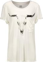 Haute Hippie Longhorn printed marled modal T-shirt