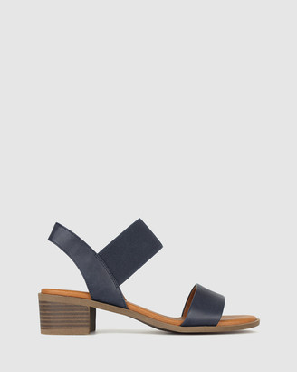 Zeroe - Women's Blue Heeled Sandals - Honey Wide Fit Block Heel Sandals - Size One Size, 7 at The Iconic