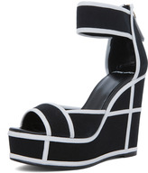 Pierre Hardy Canvas Wedges in Black & White