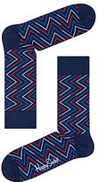 Happy Socks Ziggy Socks, One Size, Navy