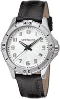 Wenger Squadron Women's Quartz Watch with Dial Analogue Display and Brown Leather Strap 010121106