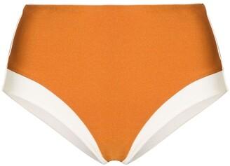 ODYSSEE High-Waisted Two-Tone Bikini Bottoms