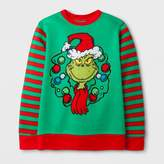 Dr. Seuss Boys' Dr. Suess How The Grinch Stole Christmas Sweatshirt - Green/Red