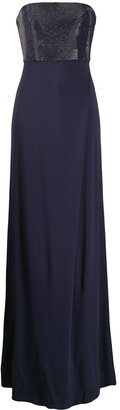 Emporio Armani Strapless Maxi Dress