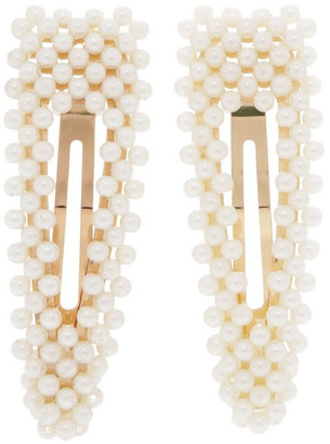 Miss Shop 2 Pack Pearl Snap Clips