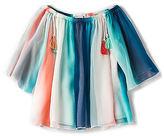 Chloé Kids Mini Rainbow Top in Blue