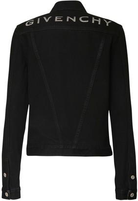 Givenchy Logo Print Cotton Denim Jacket