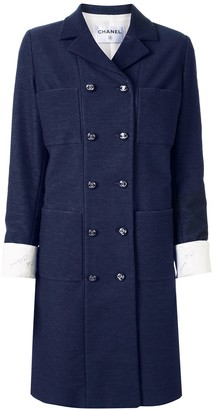 Chanel Pre Owned Slim-Fit Double-Breasted Coat
