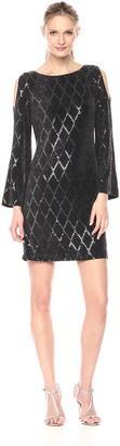 Jessica Howard JessicaHoward Women's Cold Shoulder Sheath Dress