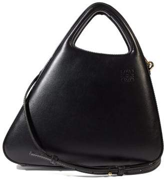 Loewe Architects A Leather Top-handle Bag - Womens - Black
