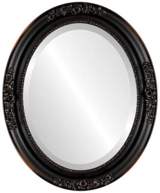"""The Oval And Round Mirror Store Versailles Framed Oval Mirror in Rubbed Bronze, 21""""x27"""""""