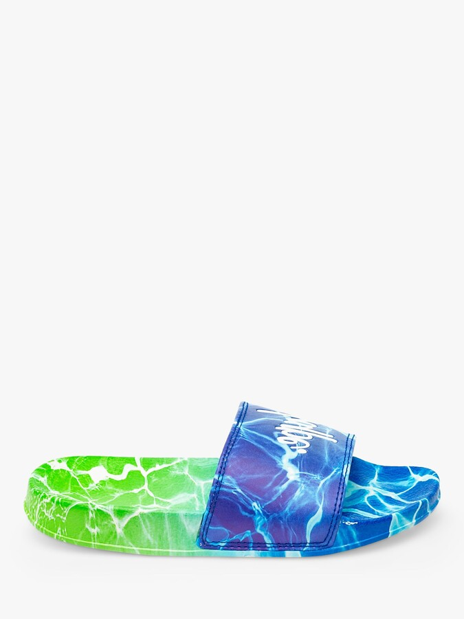 Hype Kids' Pool Fade Sliders, Blue/Multi