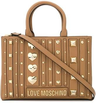 Love Moschino studded tote bag