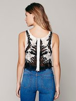 Free People Two Tone Lace Crop Top