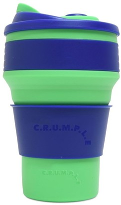 CRUMPLE Reno & Sierra Collapsible Reusable Eco Coffee Cup 350ml Green & Blue