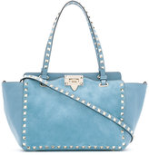 Valentino Rockstud Rolling trapeze tote - women - Calf Leather/Suede - One Size