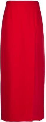 Gucci slit detail A-line skirt