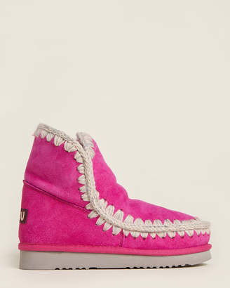 Mou Cyclamen Eskimo Shearling-Lined Suede Boots